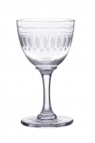 cutout image of Set Of 6 Vintage Style Crystal Liqueur Glasses - Ovals on white background