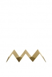 cutout image of Gold Metal Kitchen Stand from front on white background