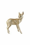 cutout image of Grace The Gold Deer Coin Bank on white background