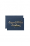 cutout image of Happy Birthday Handsome Greeting Card with envelope on white background