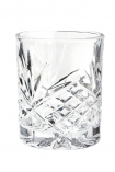 cutout image of Old Fashioned Crystal Style Tumbler - Clear on white background