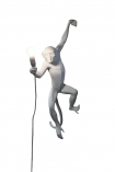 Left-Hand Hanging Monkey Wall Lamp - White cutout image on white background