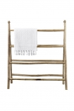 Natural Bamboo Towel Rail with towl cutout image