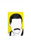 cutout image of Rock Icon Tea Towel - Freddie Mercury on white background