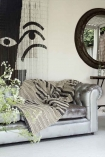 lifestyle Image of Black and White Bamboo Door Curtain at the home of Dee Campling