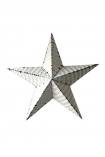 cutout image of Vintage Metal Star - White on white background