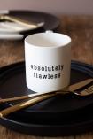 Lifestyle image of the Absolutely Flawless Mug