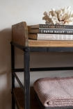 Close-up image of the Antique French-Style Shelf Unit / Console Table