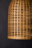 Close-up image of the Beautiful Big Bell Bamboo Ceiling Light