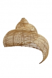 Image of the Beautiful Spiral Shell Shaped Rattan Ceiling Light on a white background