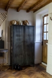 Lifestyle image of the Black Industrial Fine Corrugated Cabinet