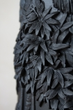 Close-up image of the tree detailing on the Giant Beautiful Black 3D Jungle Vase