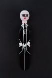 lifestyle image of Fashion Doorstop on black background Karl Lagerfeld