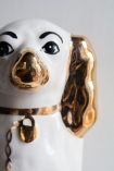 Close-up image of the head & face on the Hand Painted UK Made Cavalier King Charles Spaniel Dog Coin Bank