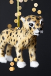 Close-up image of the Cheetah Hanging Christmas Decoration
