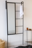 Lifestyle image of the Cloakroom Mirror & Storage Ladder