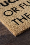 Close-up image of the cork doormat.