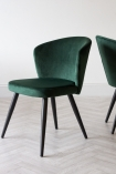Image of the Rich Green Deco Velvet Dining Chair