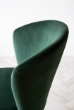 Close-up image of the back of the Rich Green Deco Velvet Dining Chair