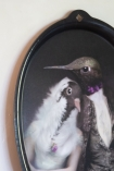 Close-up image of The Lovebirds Galarie De Portraits Oval Tray