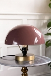 Lifestyle image of the Dusky Pink Button Mushroom Table Lamp