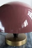 Close-up image of the Dusky Pink Button Mushroom Table Lamp