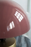 Close-up image of the shade on the Dusky Pink Button Mushroom Table Lamp