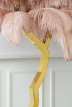 Close-up image of the base on the Fabulously Fantastic Pink Ostrich Feather Tree