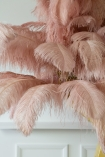 Close-up of the feathers on the Fabulously Fantastic Pink Ostrich Feather Tree