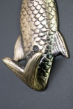 Close-up of the tail hook on the Fish Coat Hook