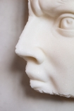 Close-up image of the nose and mouth on the Fragment Of Michelangelo's David Wall Art