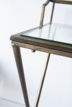 Image of the corner of the Glass Desk/Dressing Table With Antique Gold Frame