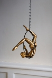 Lifestyle image of the Gold Acrobatic Hanging Lady
