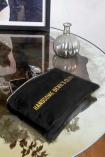 Lifestyle image of the Black Cotton Handsome Devils Club Pouch Wash Bag