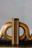 Close-up image of the middle of the Gold Snake Bookends