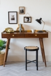 Front-on lifestyle image of the Classic Gold Trimmed Desk