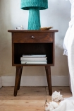 Close-up lifestyle image of the Hudson Bedside Table