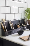 Lifestyle image of the Industrial Style Wall Shelf Storage Organiser