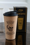 Image of the Killer Coffee Reusable Cork Coffee Cup with the gift box