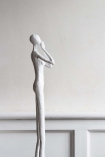 Side angle image of the Tall Silent Figure Ornament