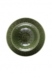 Image of the Moss Green Fern Leaf Design Medium Bowl on a white background