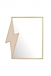 cutout image of the lightening bolt desk mirror on white background