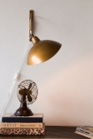Lifestyle image of the Manhattan Gold Metal Directional Wall Lamp