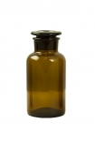 Image of the medium Apothecary Style Brown Glass Storage Bottle on a white background