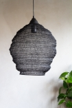 Image of the Black Noir Beehive Metal Mesh Pendant Light