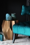 Lifestyle image of the Midas Gold Geometric Side Table