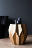 Image of the Midas Gold Geometric Side Table