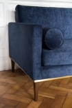 Close-up image of the arm of the Midnight Blue Danish Design 3 Seater Sofa