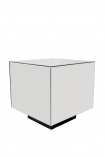 Image of the Mirrored Cube Side Table on a white background