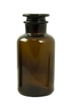 Image of the large Apothecary Style Brown Glass Storage Bottle on a white background